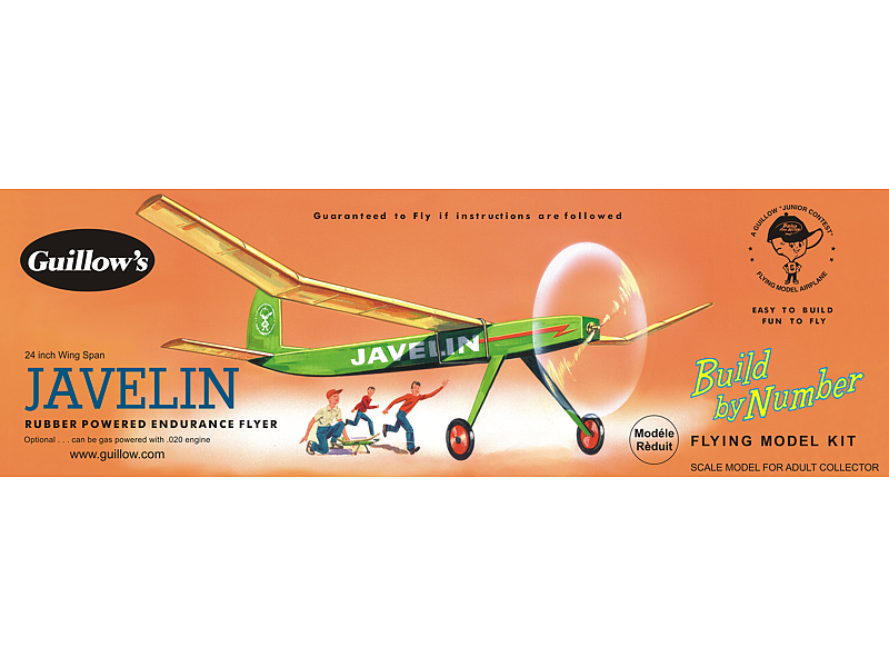 Javelin Balsa Wood Model Airplane Kit 03-603