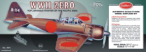 WWII Japanese Mitsubishi Zero Model Airplane 03-404LC